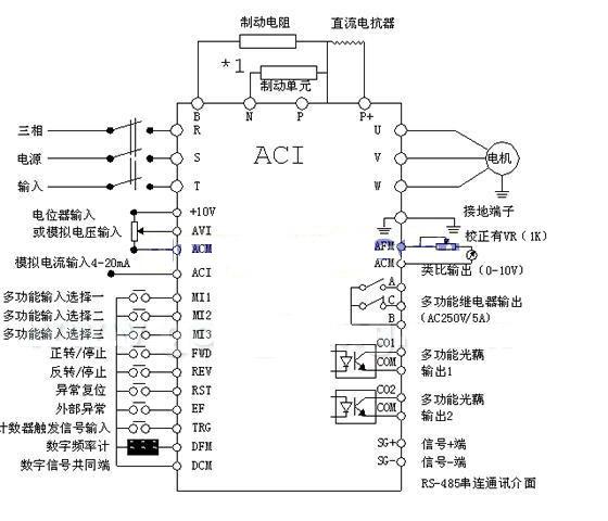 接线端子定义(ac220v电源接xt5:1和xt5:4)