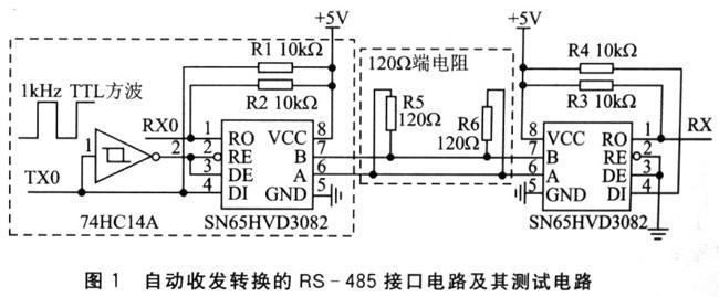 首页 > 知识库 > 串口技术  (2)自动收发转换的rs-485接口电路 &nbsp